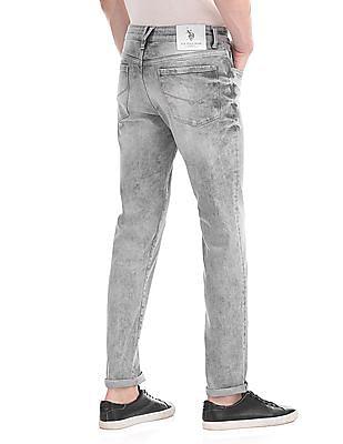U.S. Polo Assn. Denim Co. Brandon Slim Fit Acid Wash Jeans