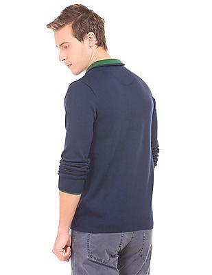 Gant Regular Fit Zipper Placket Sweater