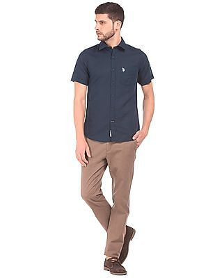 U.S. Polo Assn. Short Sleeve Cotton Linen Shirt