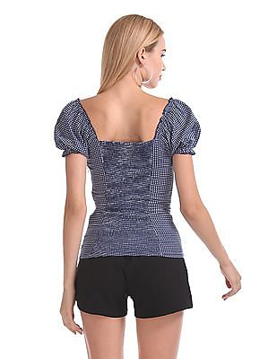 Aeropostale Lace Up Check Top