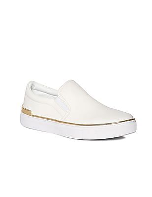 Stride Metallic Accent Solid Slip On Shoes