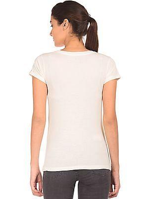 Cherokee Rubber Print Cotton T-Shirt
