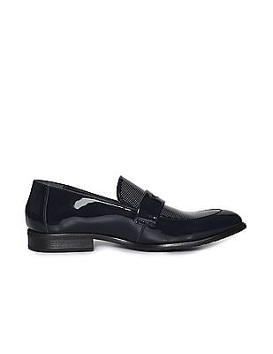 Arrow Penny Strap Patent Slip On Shoes