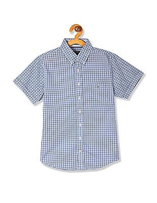 Gant Boys Manhattan Poplin Gingham Check Shirt