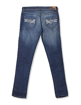 Flying Machine Super Skinny Fit Washed Jeans