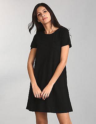 GAP Solid T-Shirt Dress