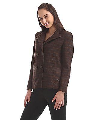 U.S. Polo Assn. Women Double Breasted Wool Blazer