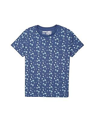 FM Boys Boys Slim Fit Printed T-Shirt