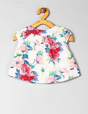 GAP Baby Short Sleeve Floral Print Dress
