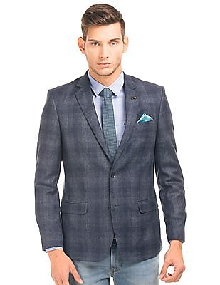 Arrow Single Breasted Wool Blazer