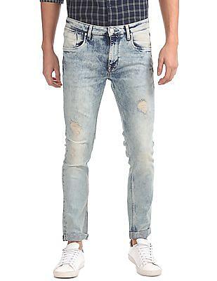 Ed Hardy Acid Wash Distressed Jeans