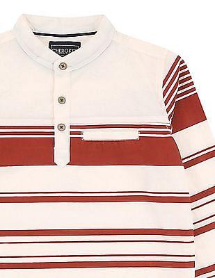 Cherokee Boys Striped Popover Shirt
