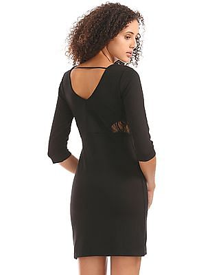 Elle Lace Panel Bodycon Dress