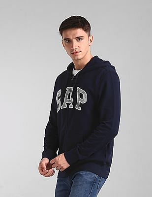 GAP Blue Hooded Logo Sweatshirt
