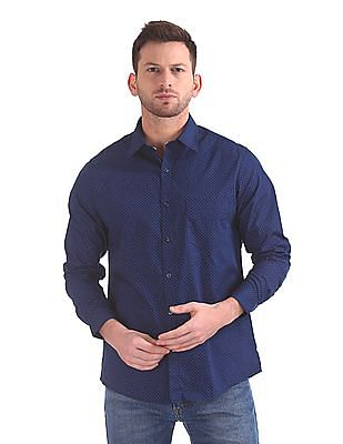 Excalibur Classic Regular Fit Printed Shirt