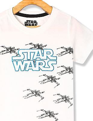 Colt White Boys Star Wars Graphic Crew Neck T-Shirt