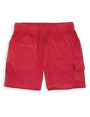 FM Boys Raw Hem Knitted Shorts
