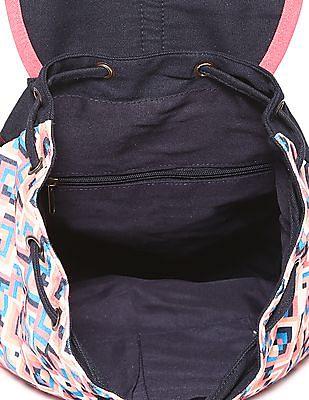 SUGR Printed Drawcord Backpack