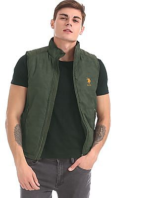 U.S. Polo Assn. Green Panelled Gilet Jacket