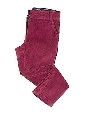 U.S. Polo Assn. Kids Girls Adjustable Waist Velvet Trousers