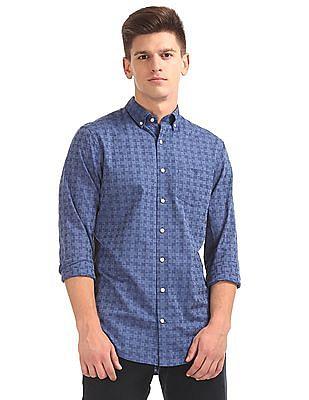 Gant Star Jacquard Regular Button Down Shirt