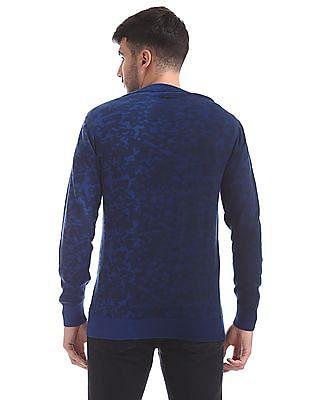 Flying Machine Slim Fit Camo Print Sweater