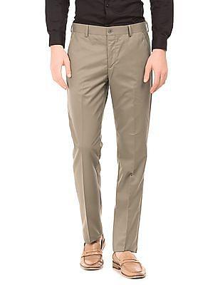 Izod Flat Front Regular Fit Trousers