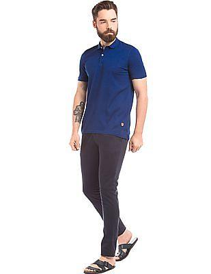 True Blue Slim Fit Cotton Polo Shirt