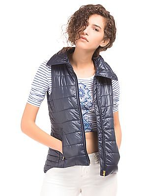 Nautica High Neck Quilted Gilet Jacket