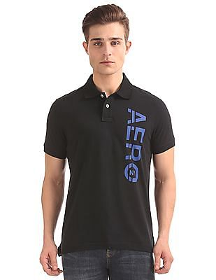Aeropostale Brand Print Regular Fit Polo Shirt