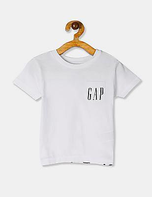 GAP Boys White 50Th Logo Short Sleeve T-Shirt