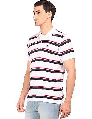 Aeropostale Striped Jersey Polo Shirt