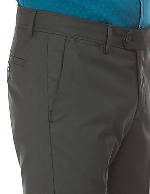 Excalibur Super Slim Fit Self Striped Trousers