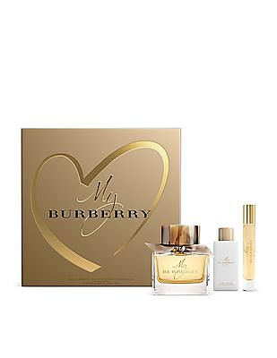 BURBERRY My Burberry Eau De Parfum Spray + Body Lotion + Roll on