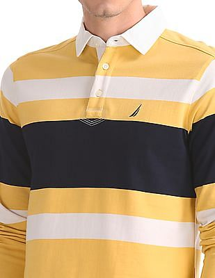 Nautica Long Sleeve Rugby Stripe Polo