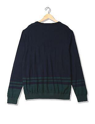 U.S. Polo Assn. V-Neck Wool Sweater