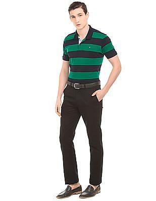 Arrow Sports Striped Short Sleeve Polo Shirt