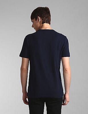 GAP Blue Patch Pocket Printed T-Shirt