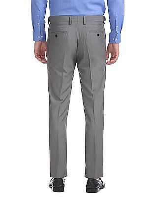 Arrow Tapered Fit Autoflex Flat Front Trousers