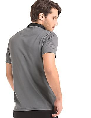True Blue Regular Fit Jacquard Polo Shirt