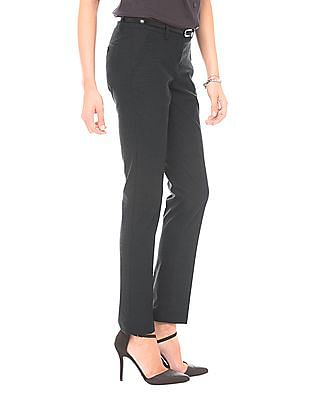 Arrow Woman Mid Rise Slim Tapered Fit Trousers