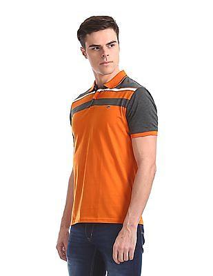Ruggers Short Sleeve Chest Stripe Polo Shirt