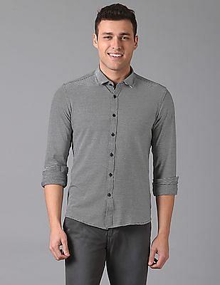 True Blue Slim Fit Striped Shirt