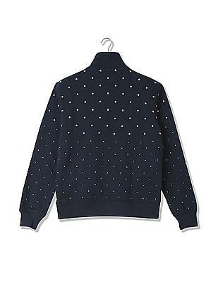 U.S. Polo Assn. Printed Zip Up Sweatshirt