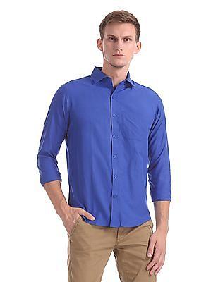 Excalibur Classic Regular Fit Solid Shirt