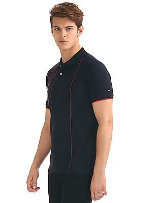 Arrow Sports Regular Fit Striped Front Polo Shirt