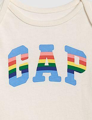 GAP White Baby Brand Logo Bodysuit