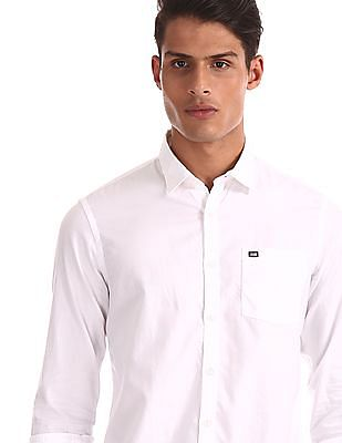Arrow Sports Slim Fit Solid Shirt