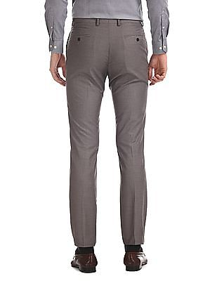 Arrow Tapered Fit Solid Trousers