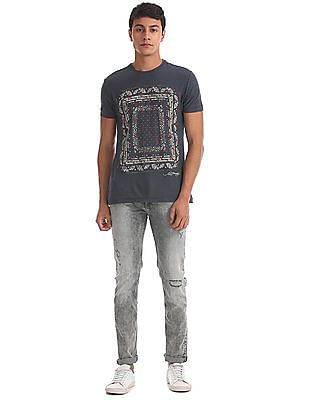 Ed Hardy Super Slim Fit Acid Wash Jeans